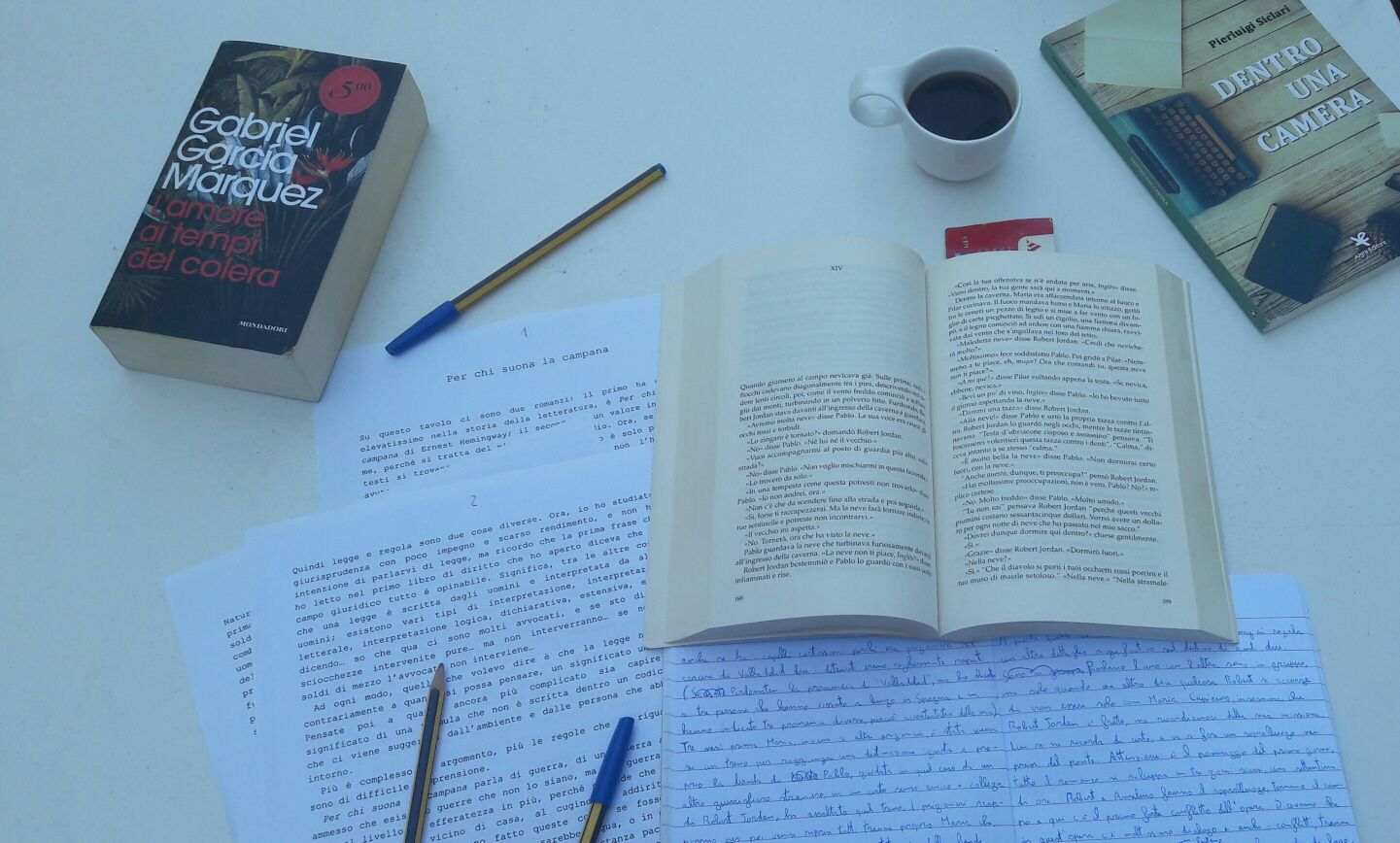 dentro una scrittura e dentro una camera